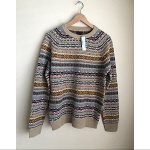J.CREW FAIR ISLE SWEATER M